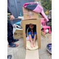 Mia explored the Milkyway in her rocket!