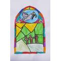 Joanne's beautiful stained glass window design.