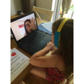 Brooke watching Miss Charlwood's latest chapter!