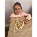Gracie made Stonehenge from salt dough!