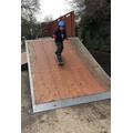 Ethan on his skateboard
