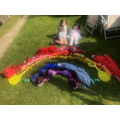 Skye's rainbow using household objects