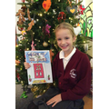 Lucy with her winning front cover design.