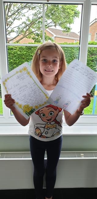 Esme loved reading her letter from Emma.