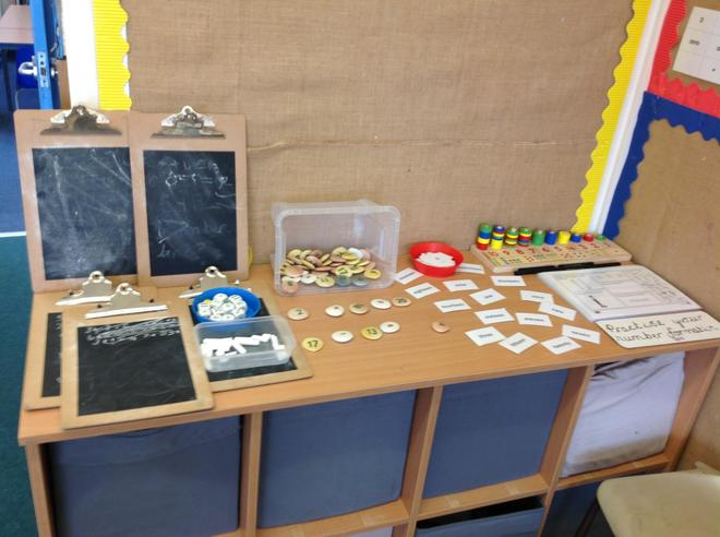 Our maths challenge area