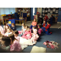 We enjoyed our bedtime stories here in school.
