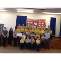 Mr Scullion and P6 at their assembly