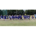 Practice run around the field