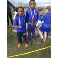 Year 2 Boys third and first winners