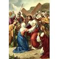 4. Jesus meets his mother.