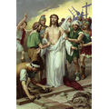10. Jesus is stripped of his clothes.