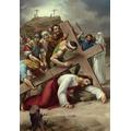9. Jesus falls a third time.