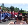 Our choir singing