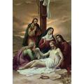 13. Jesus' body is taken down from the cross.