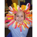 Year 3's African masks inspired by the Lion King