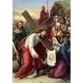 6. Veronica wipes Jesus' face.