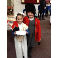 We loved dressing up in the uniforms