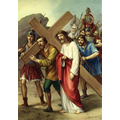 5. Simon of Cyrene helps Jesus.