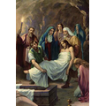 14. Jesus is laid in the tomb.