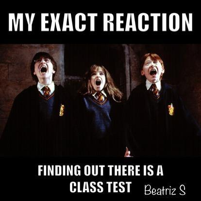 Wait! I thought you all loved tests!