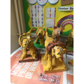 We made clay lions with Arty Party