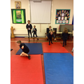 We are doing gymnastics in PE