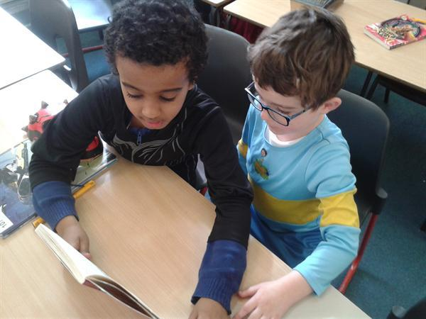 Enjoying books together on World Book Day