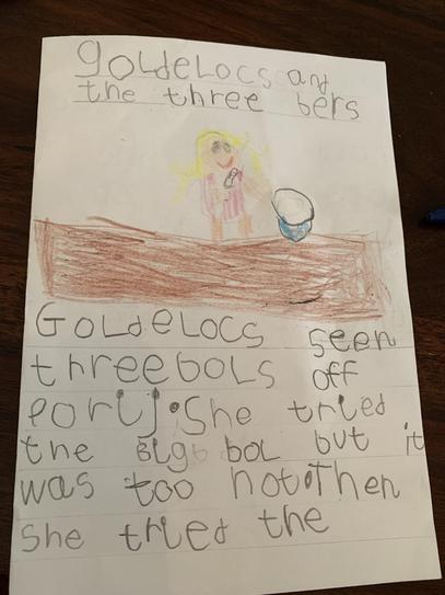 'Goldilocks' Story page 1 by Cian