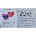 Lovely memories of Year 1 and goals for Year 2 by Malachi.