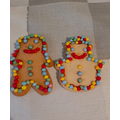 Making gingerbread men by Oliver