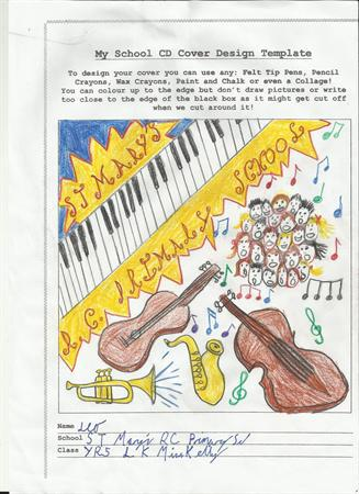 Winning entry for the school CD cover competition