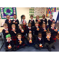 We made christingles for Advent