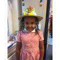 Ariam's lovely Easter Bonnet