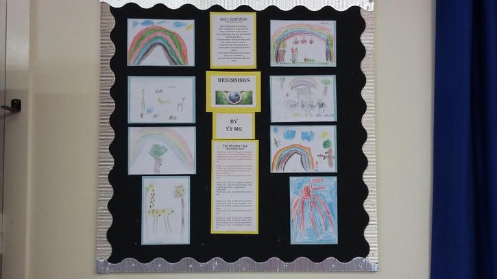 Y2MG have been very busy creating a display for the whole school.