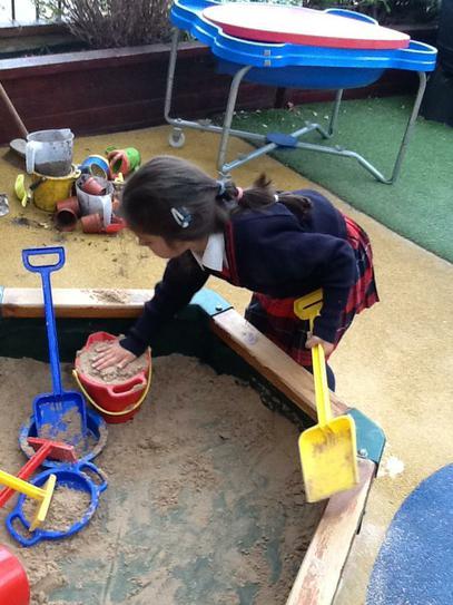 Building a sand castle!