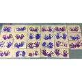 Judaism - we made handprint menorahs
