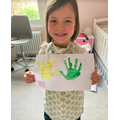 Art free choice - handprint painting
