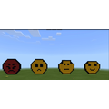 Boris' 'Feeling' emojis he created on Minecraft