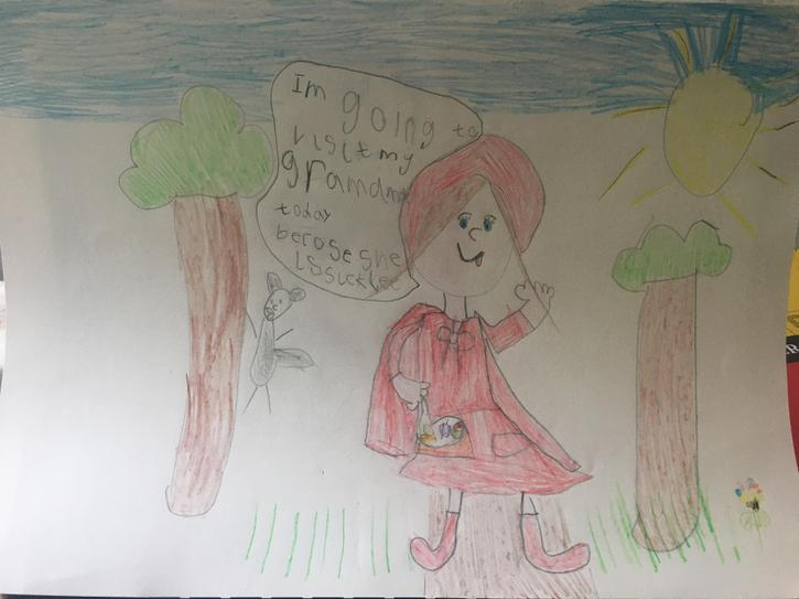'Red Riding Hood' Speech Bubble by Isabella