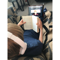 Listening to Harry Potter,read by Daniel Radcliffe