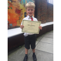 Congratulations on 100% attendance Harry!