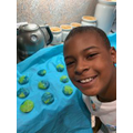 Making yummy Earth Day cookies
