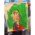 Picasso inspired self portrait - guess who!