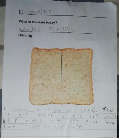 Halving Bread by Alejandro