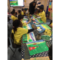 We are painting Vincent van Gogh landscapes