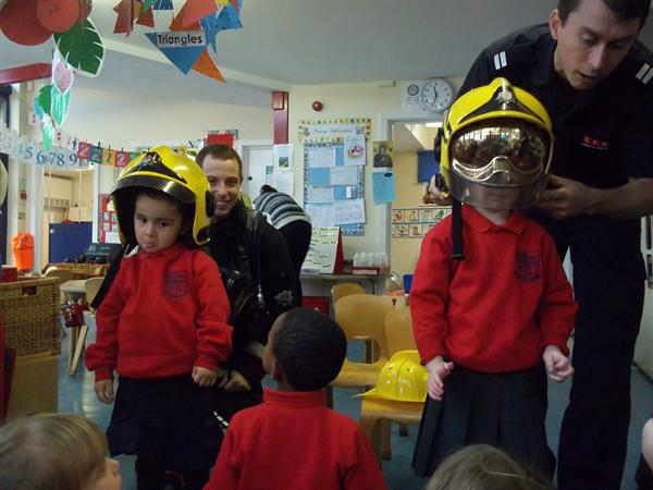 Firefighters' visit