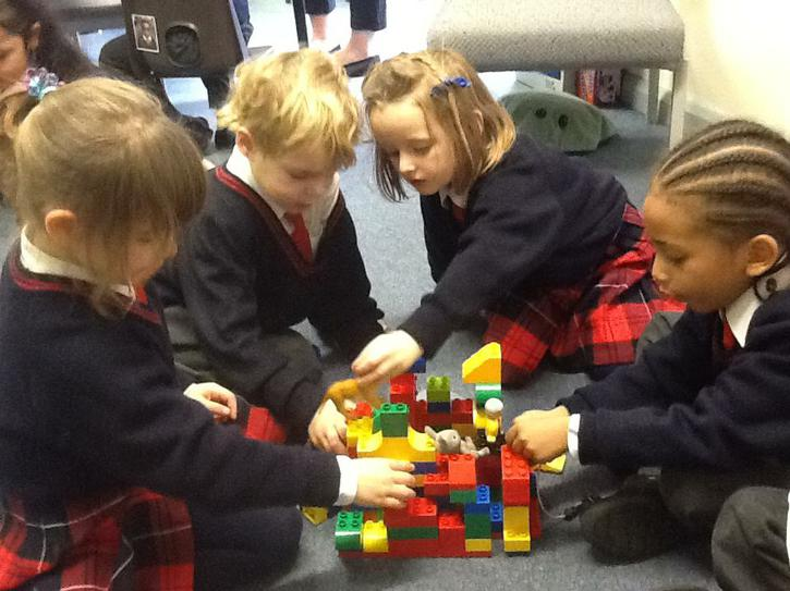 Aoife, Alexander, Beatrice and Mikel made a house