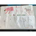 Year 4 have worked in teams to put together some illustrations from the book
