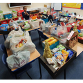 Just a portion of the food collected.