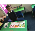 All of the pictures are sorted onto the correct colour groups.